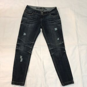Vanilla star skinny jeans with ruching